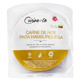 Carne premium para hamburguesa Cuisine & Co x 5 und x 500 g