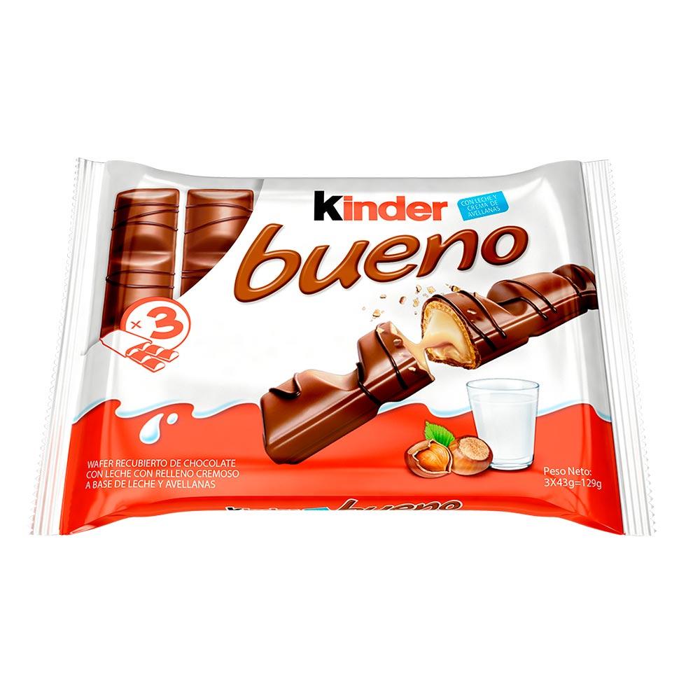 chocolate kinder bueno x 3 und x 129 g - tiendas metro